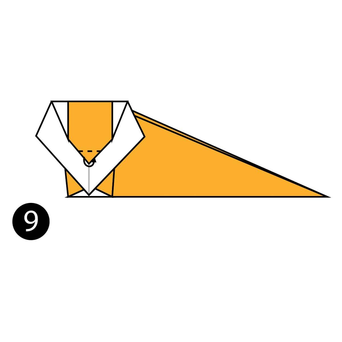 Origami Lion 🦁 折り紙イージーライオン🦁 - Origami easy tutorial ... | 1200x1200