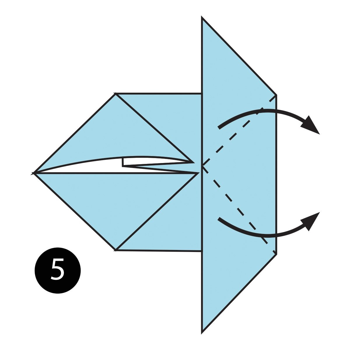 How To Fold A Simple Origami Mouse Origamiorigami Diagramorigami Instructionsorigami Step 5
