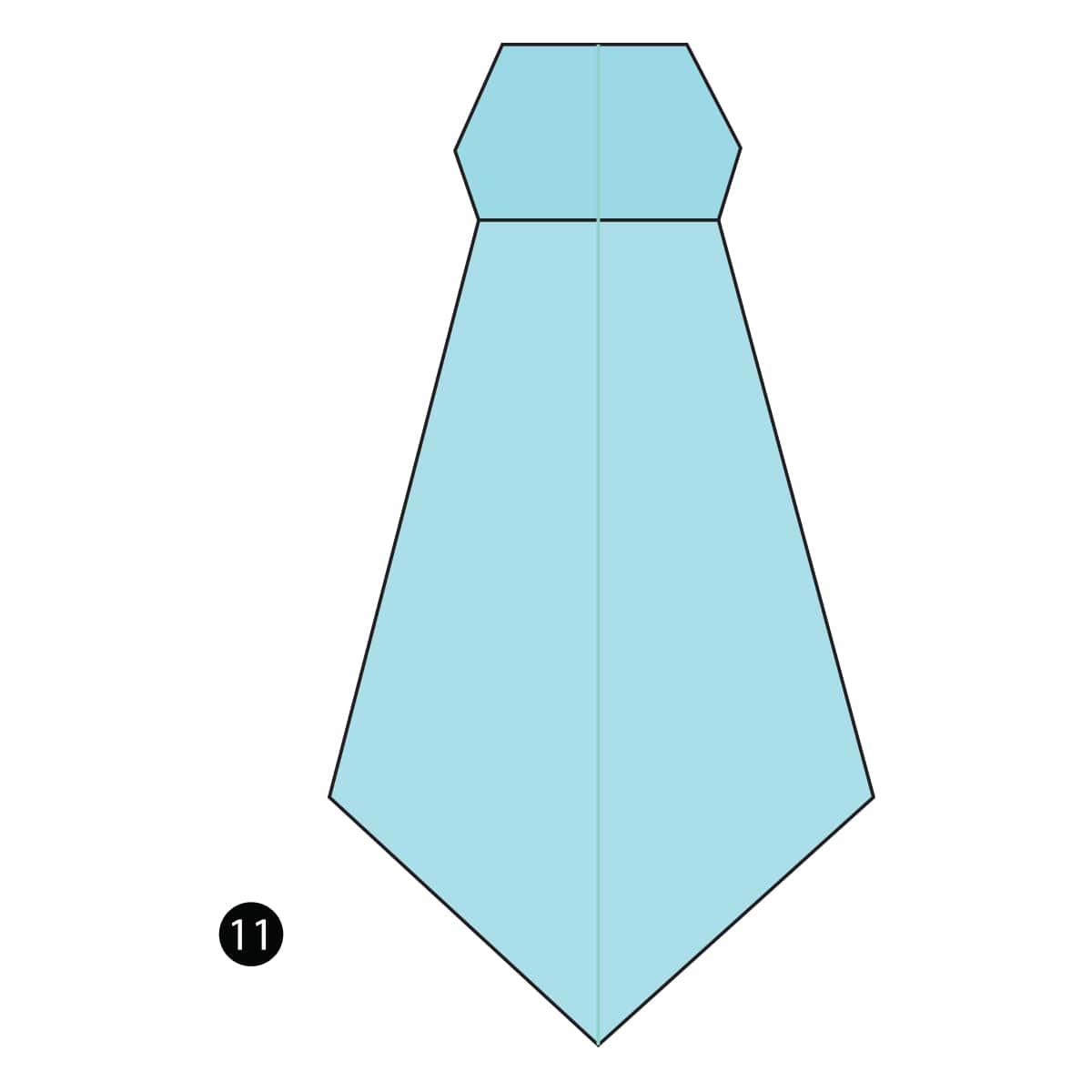 Necktie Step 11