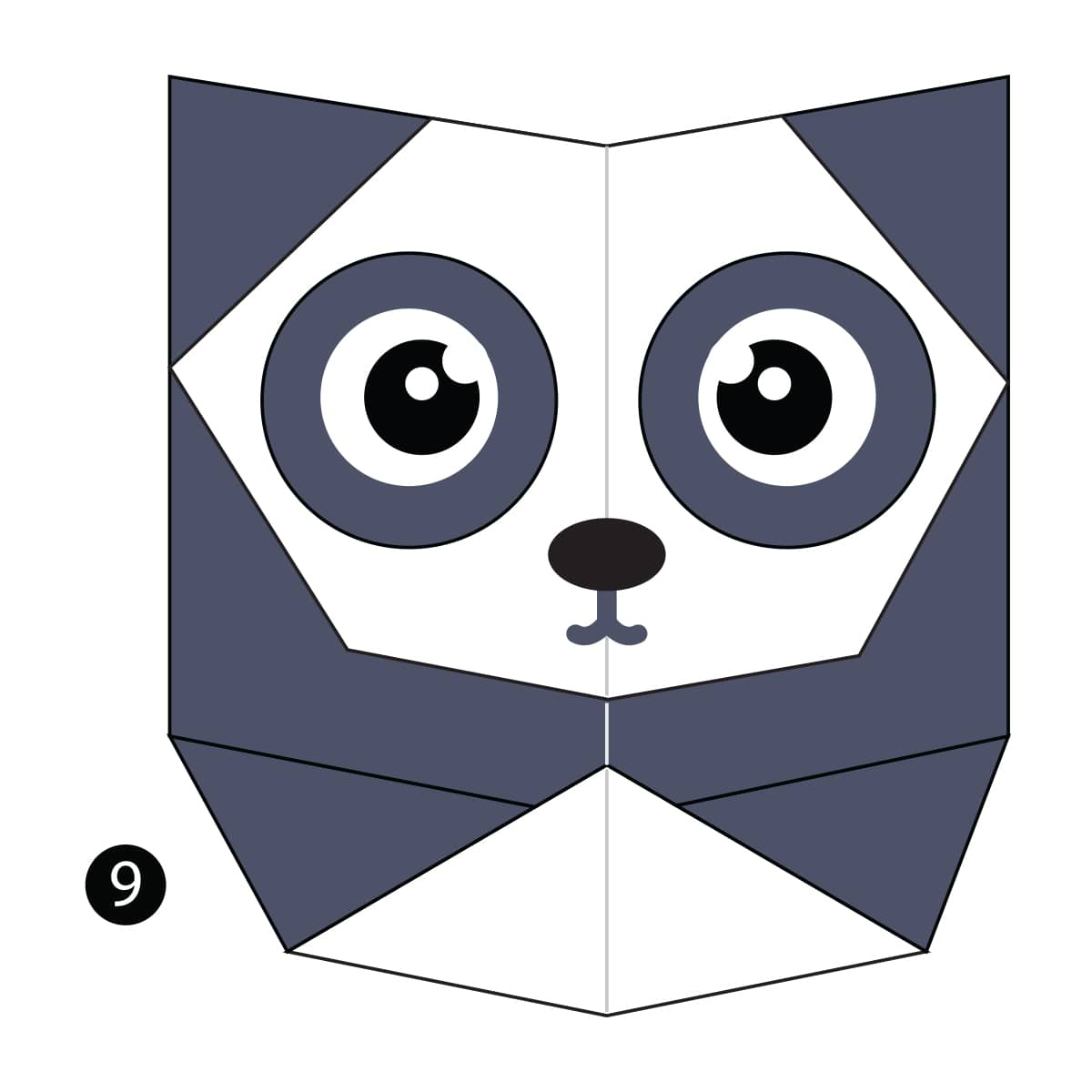 How to Make an Easy Origami Panda | 1200x1200
