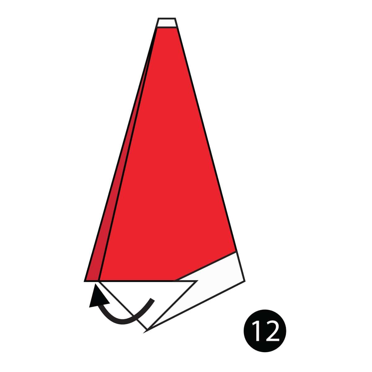 Santa Hat Step 12