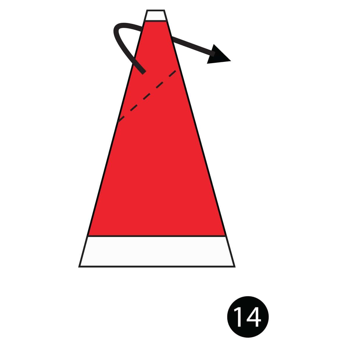 Santa Hat Step 14