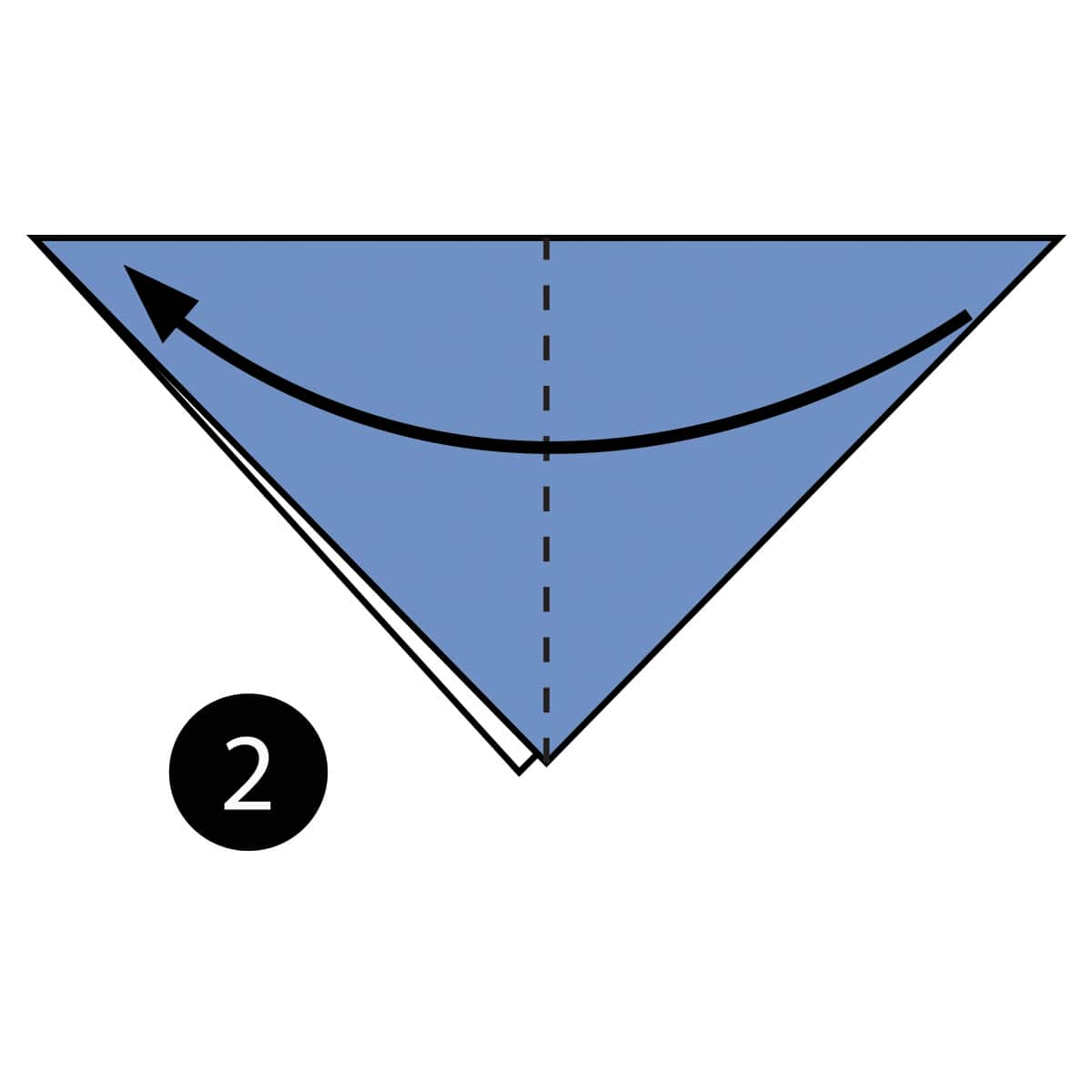 How To Make An Easy Origami Shark Diagram Step 2