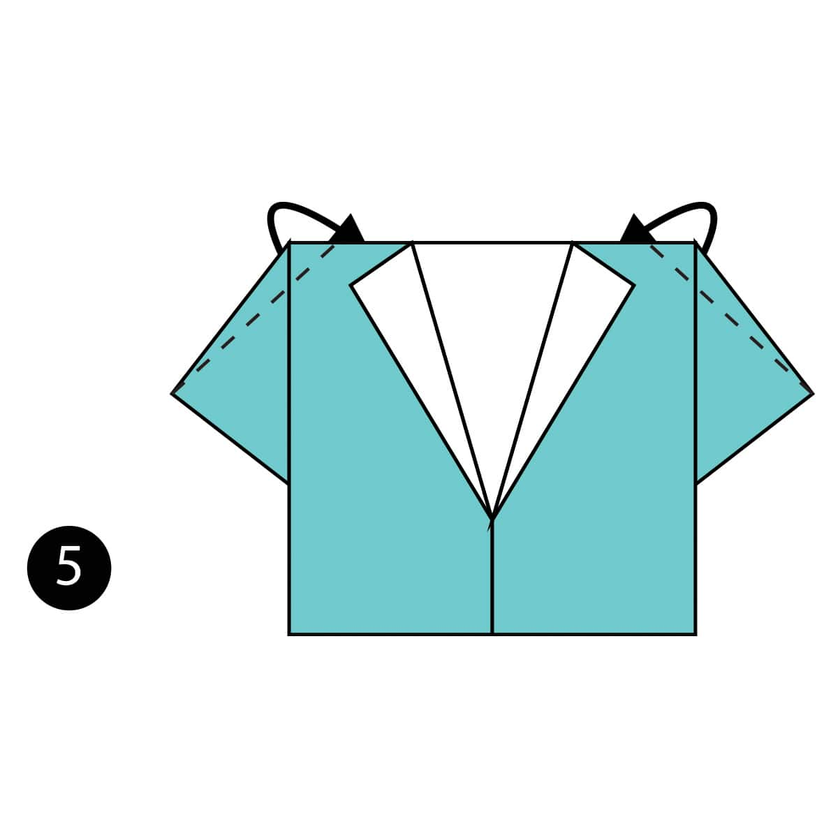 Origami Tie and Shirt folding instructions | Origami shirt ... | 1200x1200