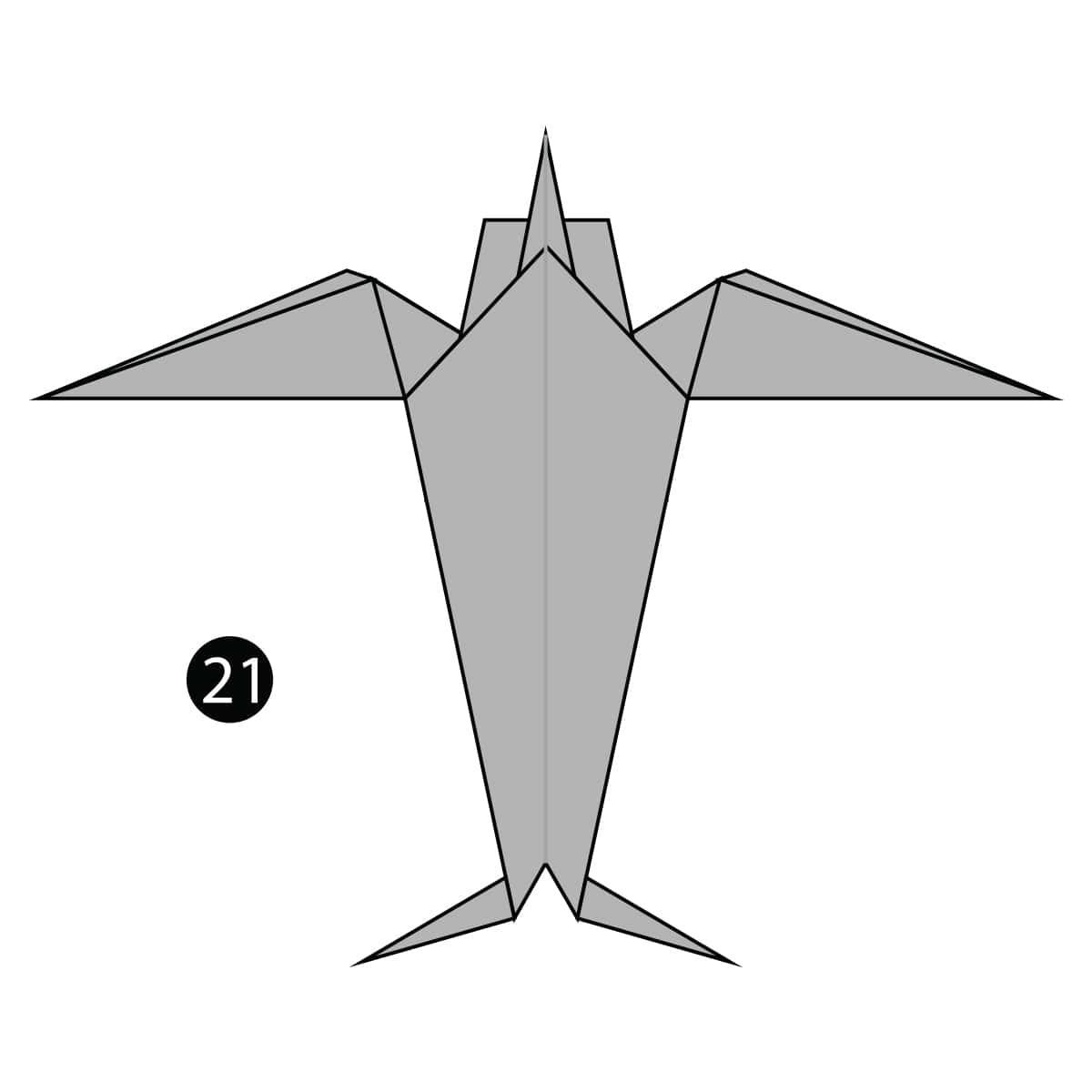 Origami Swallow Bird | How to Make a Traditional Origami Swallow ... | 1200x1200