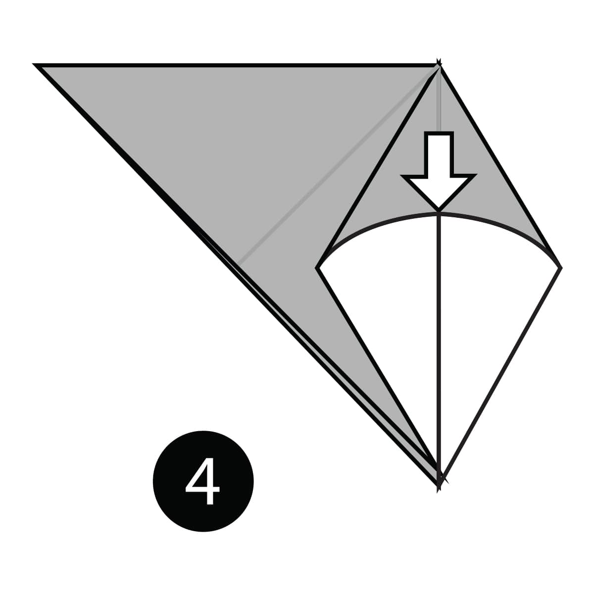 Origami Swallow Diagram and Instruction | 1200x1200