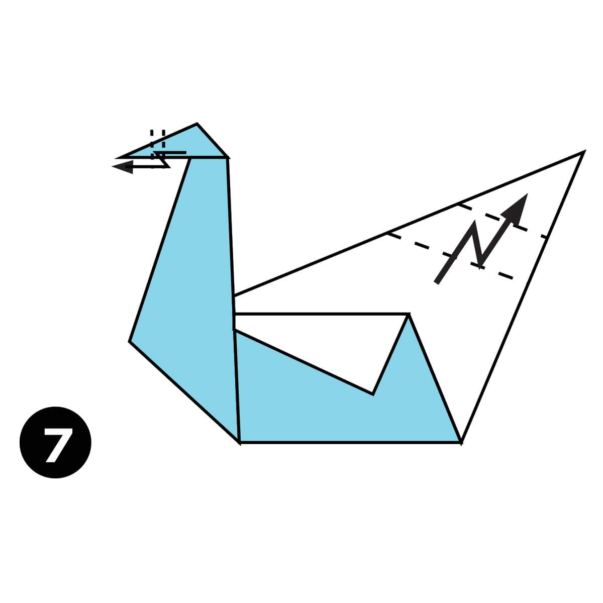 How To Make An Easy Origami Swan Pin Diagram On Pinterest Step 7