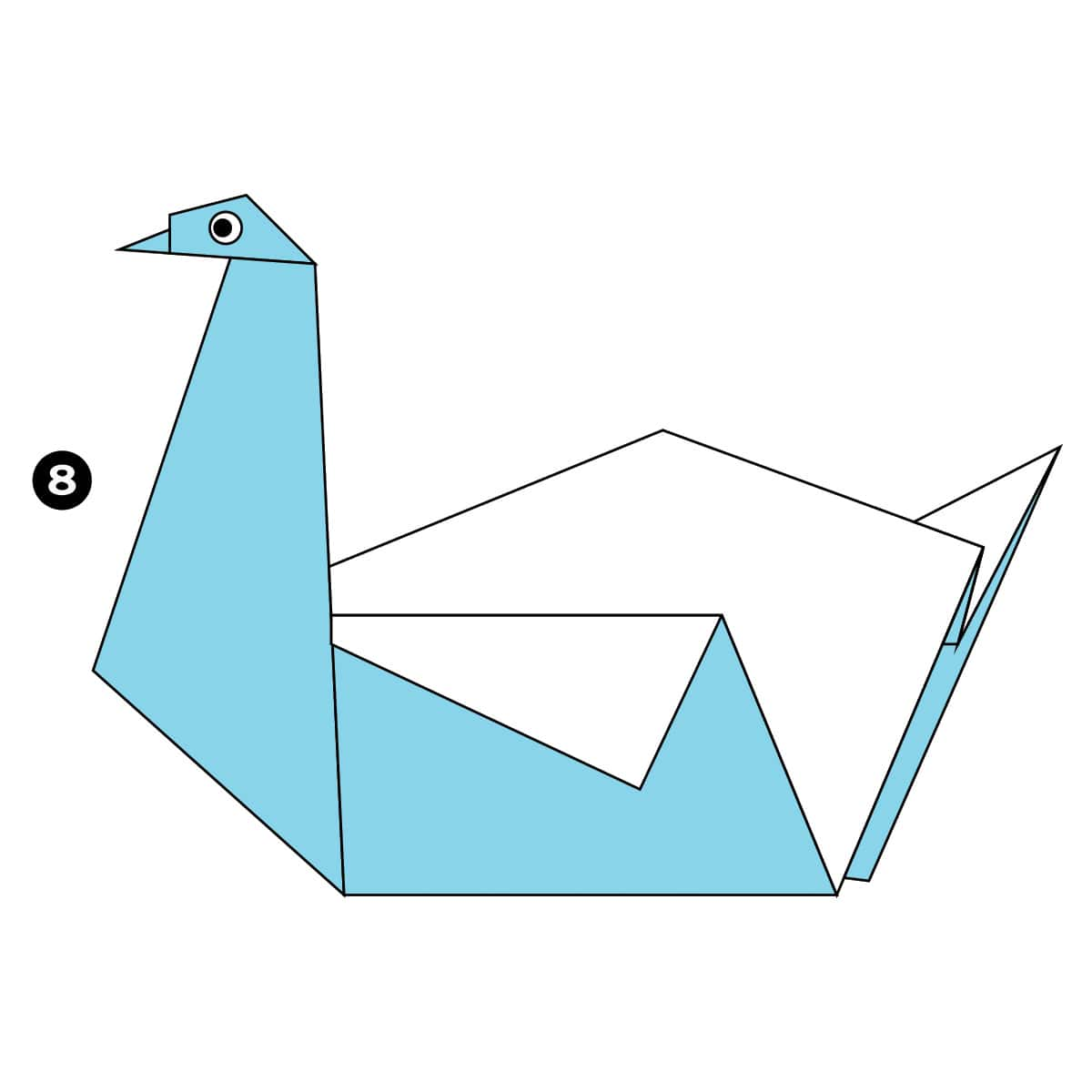 How To Make An Easy Origami Swan Pin Diagram On Pinterest Step 8