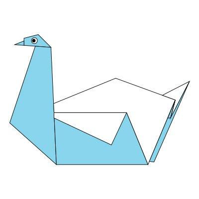 Origami ♥ Good Luck ♥ Crane - YouTube | 400x400