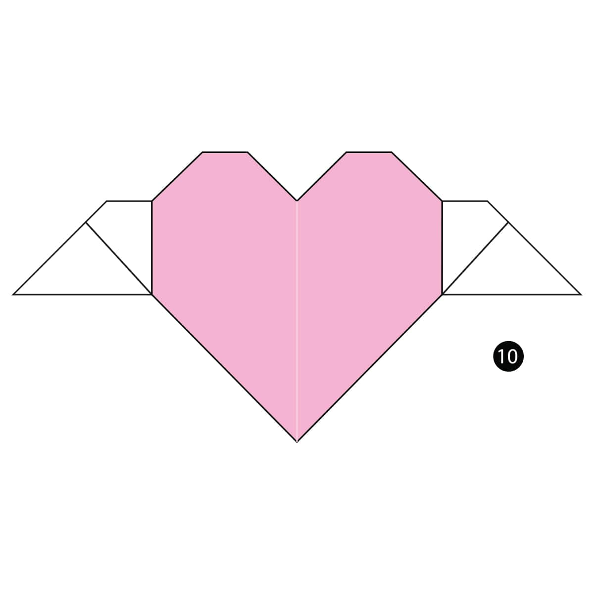 Heart with Wings Step 10