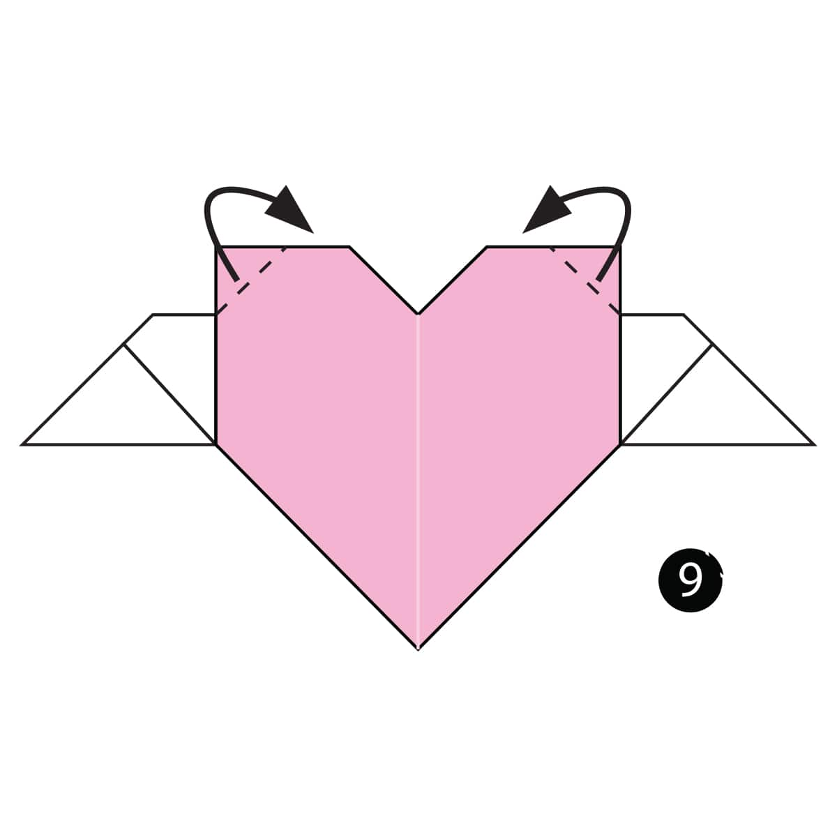 Origami Heart with Wings | 1200x1200