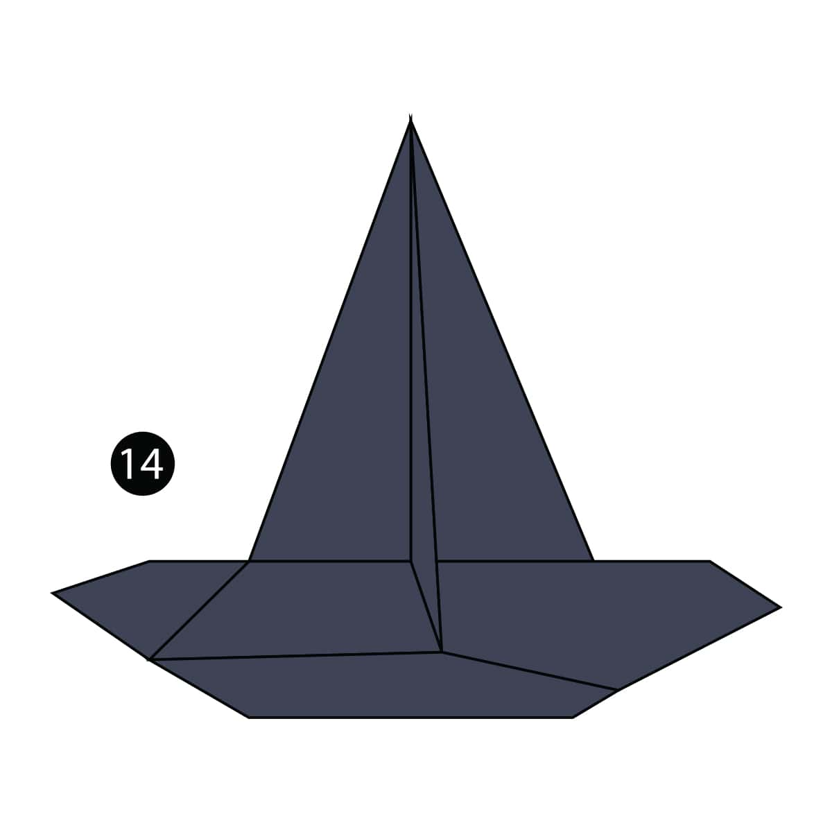 Witch Hat Step 14
