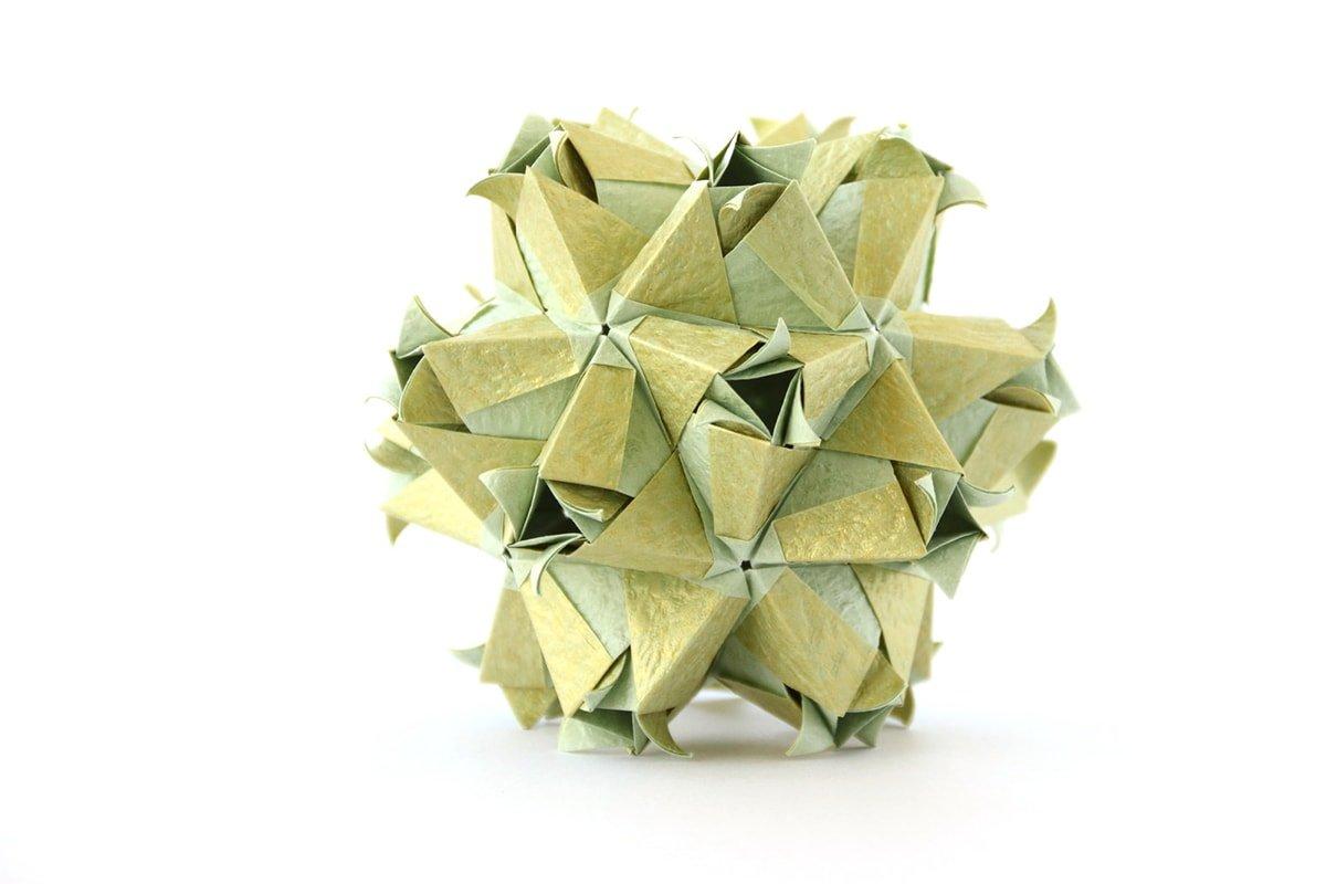 Green Curled Kusudama