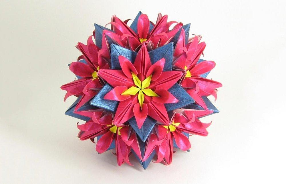 Origami Kusudama Star Sonobe Variation (intermediate - modular ... | 644x1000