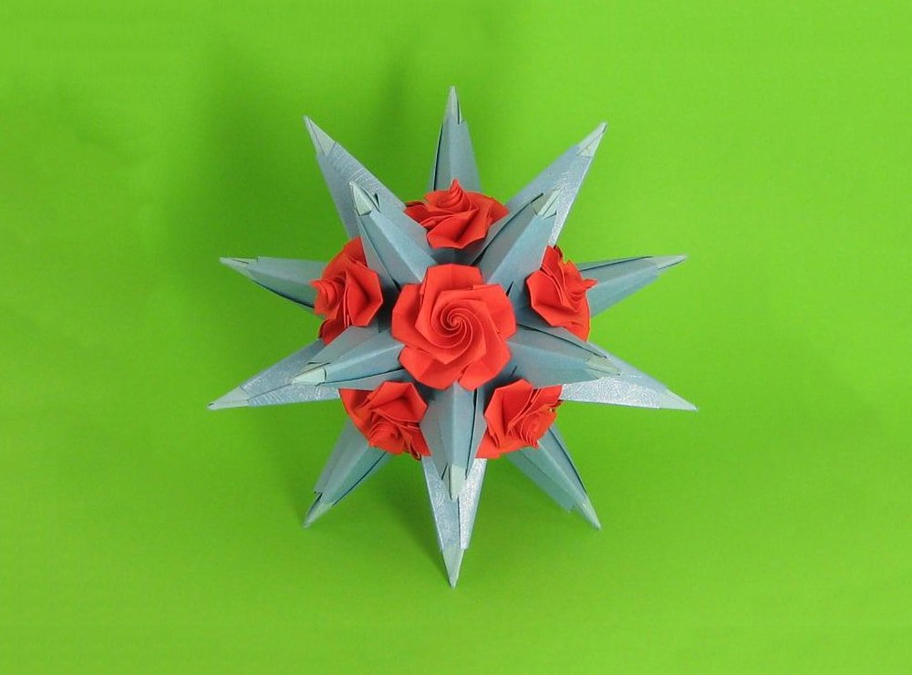 origami twisty rose | Origami instructions, Origami rose, Origami easy | 740x1000