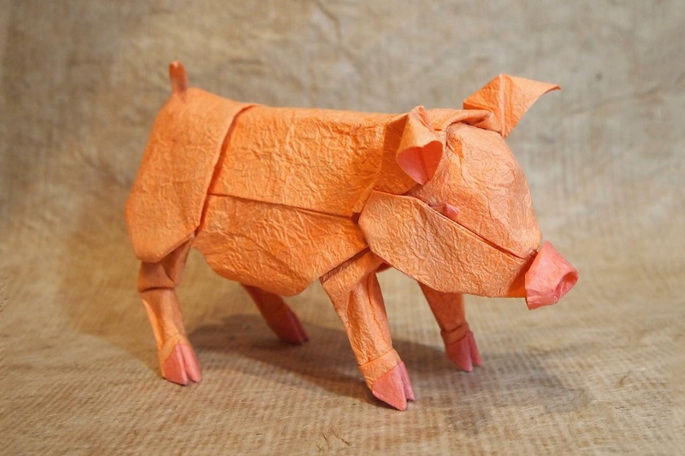 Origami Pigs