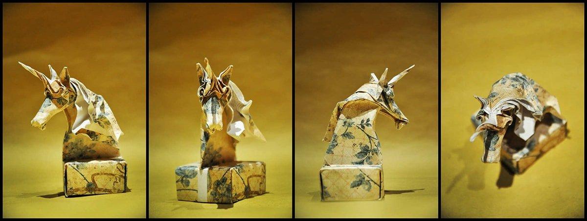 Unicorn Knight Chess Piece