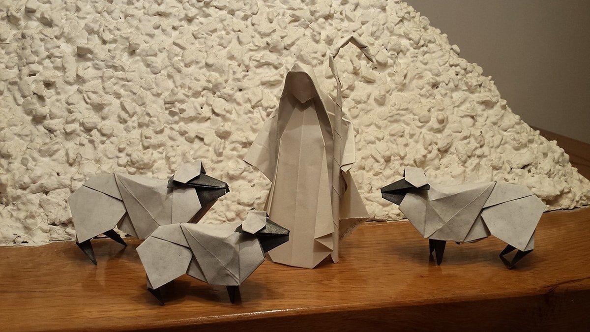 Christmas Shepherd and Sheep