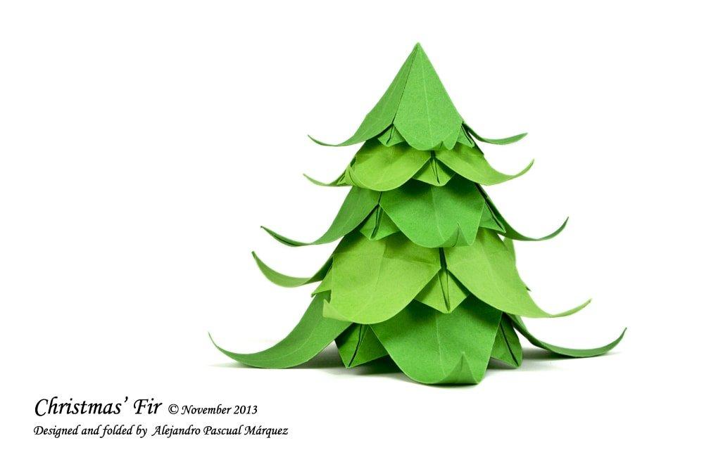 Origami Christmas Tree Easy - Christmas | 667x1000