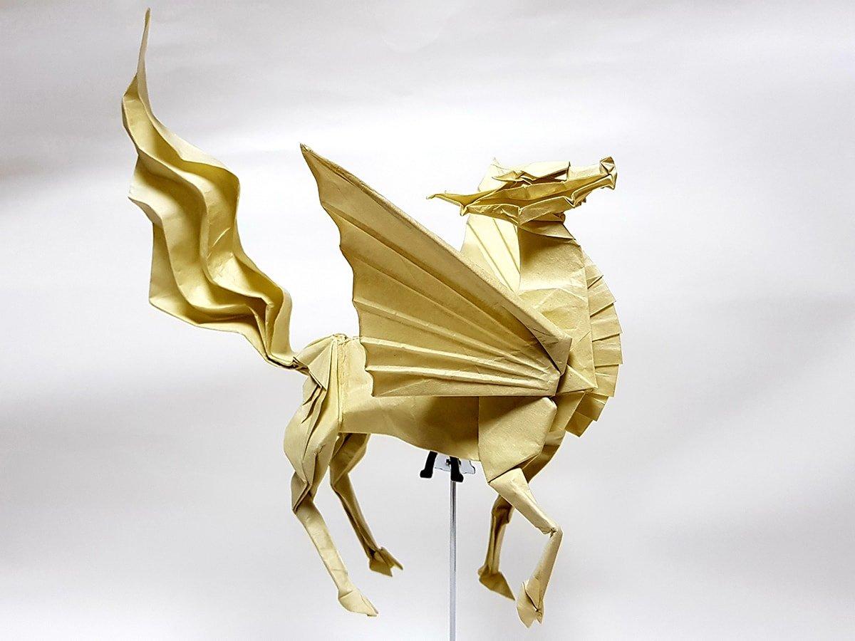 Winged Kirin by Satoshi Kamiya
