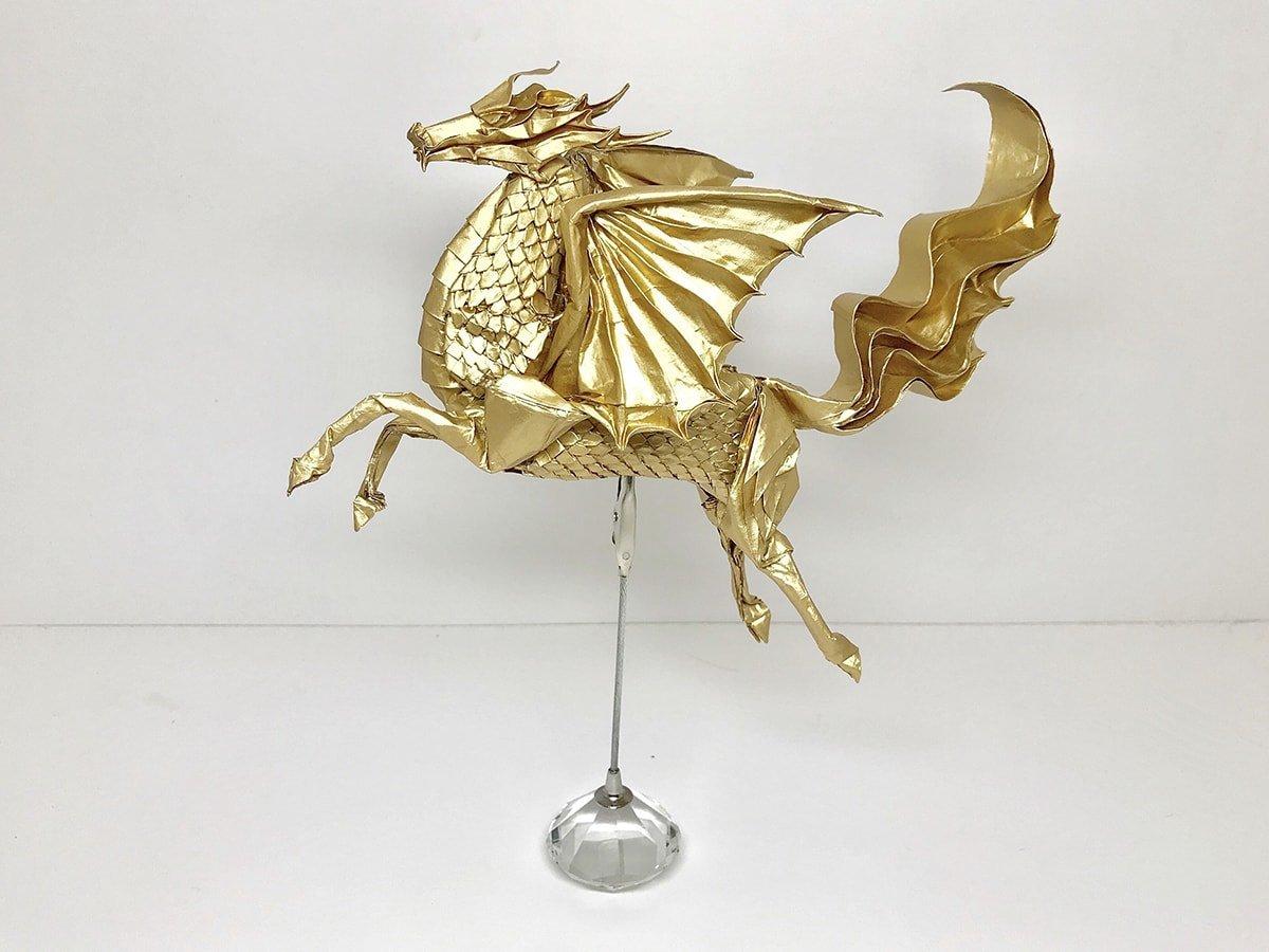 Scaled Winged Kirin by Satoshi Kamiya
