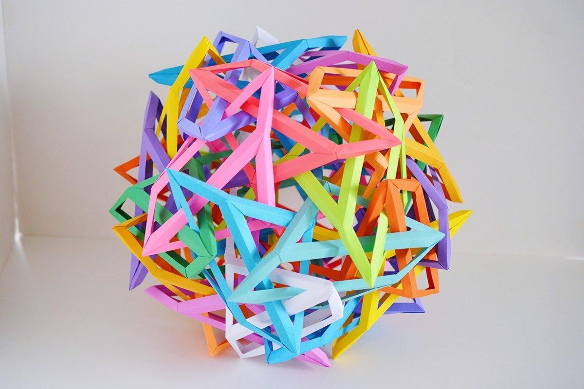 30 Interlocking Irregular Hyperboloidal Triangular Prisms v7.1 (15 Irregular Hyperboloidal Octahedra) (Byriah Loper)