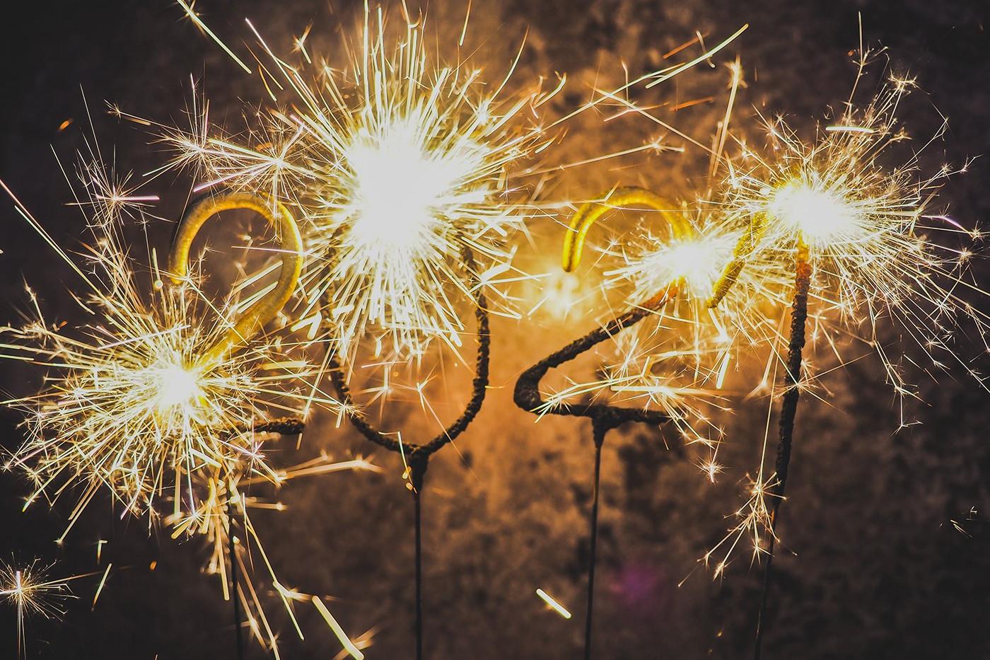 2021 Celebration with sparklers