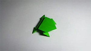 Paper Jumping Frog